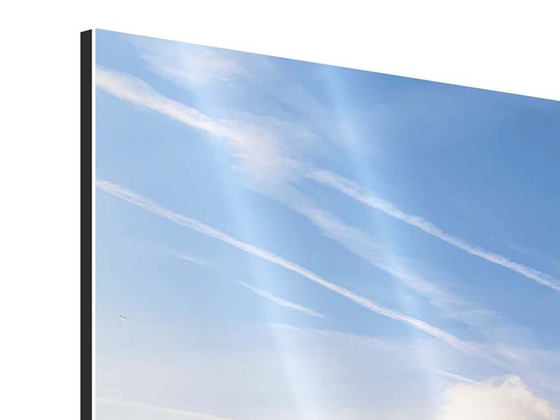 Panorama Aluminiumbild 3-teilig Zürich