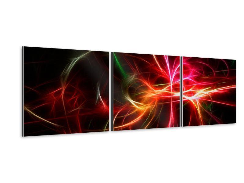 Panorama Aluminiumbild 3-teilig Fraktales Lichtspektakel