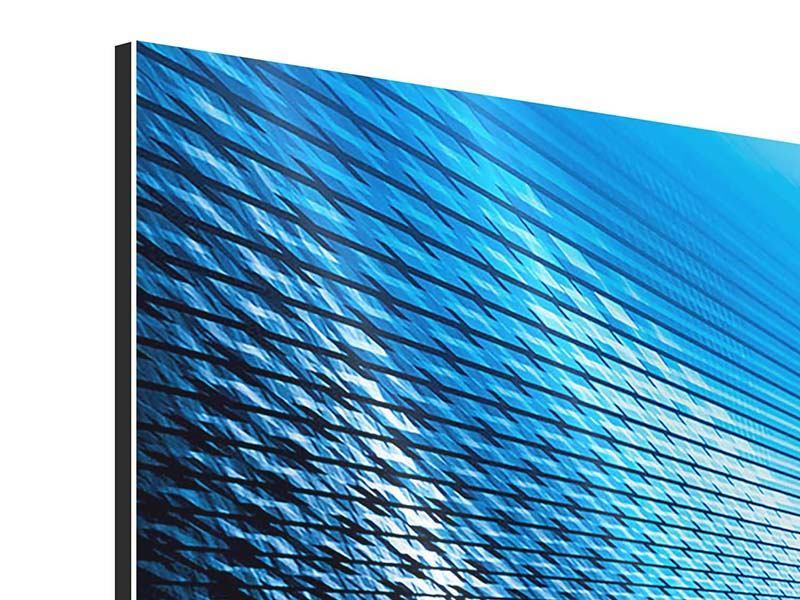 Panorama Aluminiumbild 3-teilig Laser