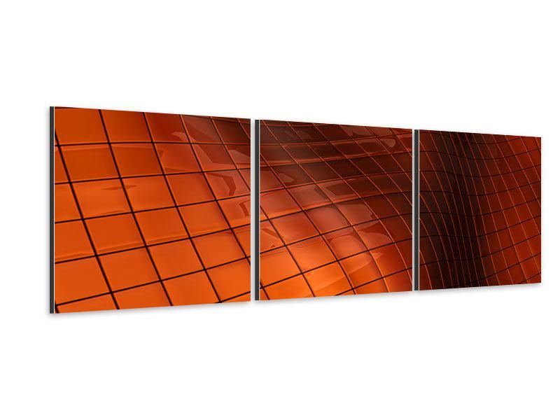 Panorama Aluminiumbild 3-teilig 3D-Kacheln