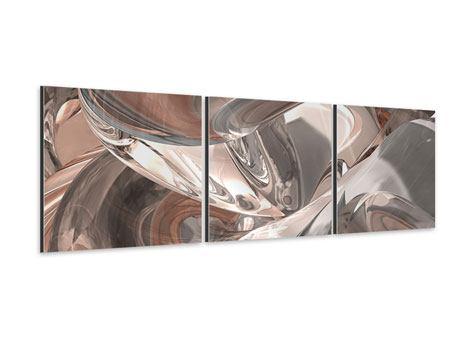Panorama Aluminiumbild 3-teilig Abstraktes Glasfliessen
