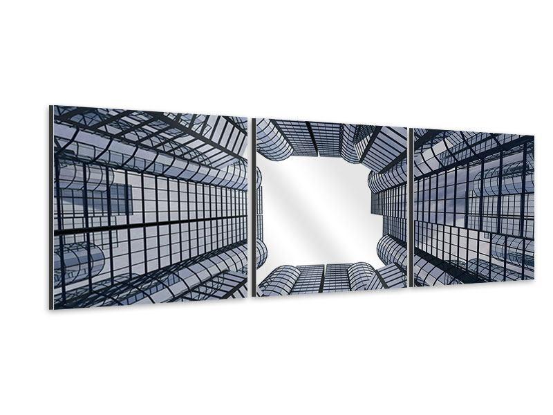 Panorama Aluminiumbild 3-teilig Besondere Perspektive