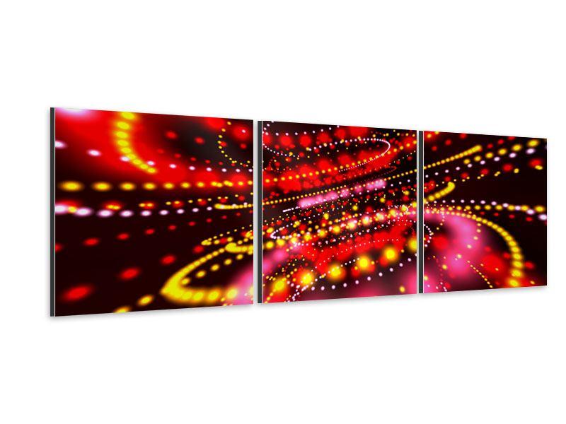 Panorama Aluminiumbild 3-teilig Abstraktes Lichtspiel
