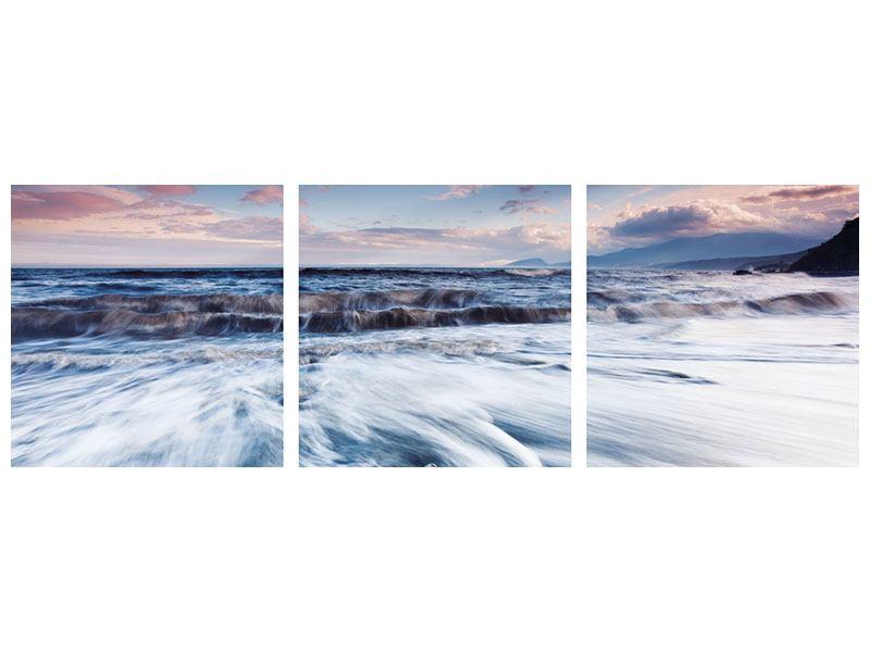 Panorama Aluminiumbild 3-teilig Ort der Sehnsucht