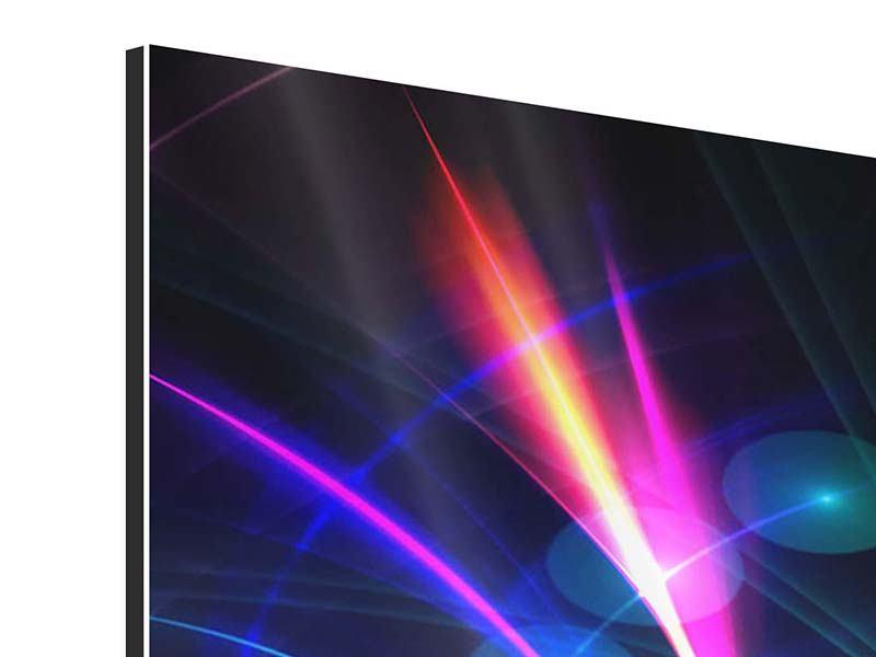 Panorama Aluminiumbild 3-teilig Abstrakte Lichtreflexe