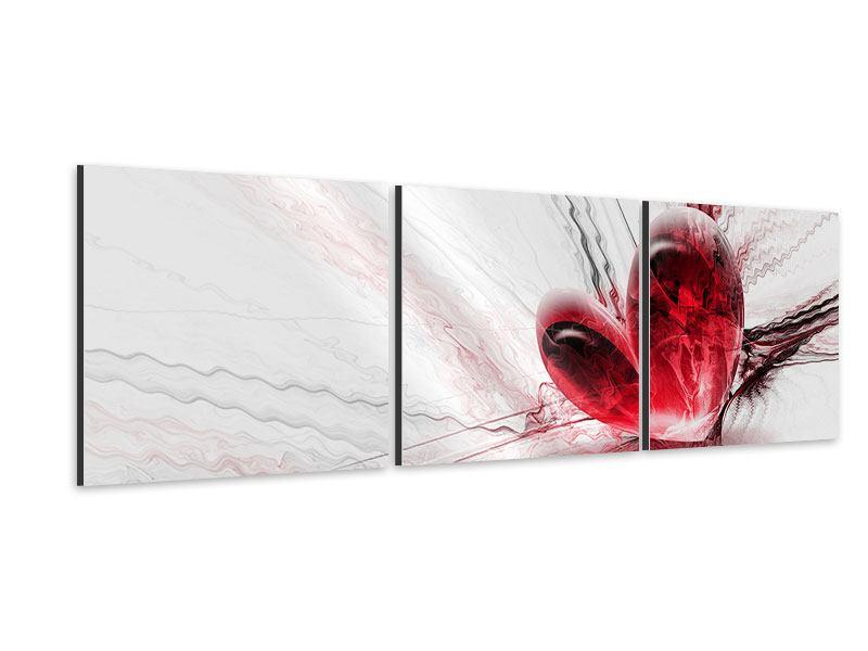 Panorama Aluminiumbild 3-teilig Herzspiegelung