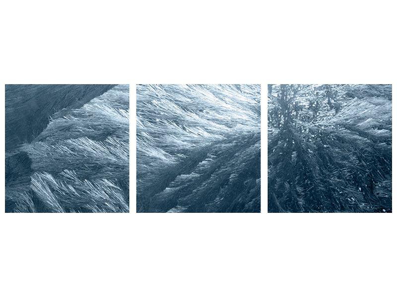 Panorama Aluminiumbild 3-teilig Eis