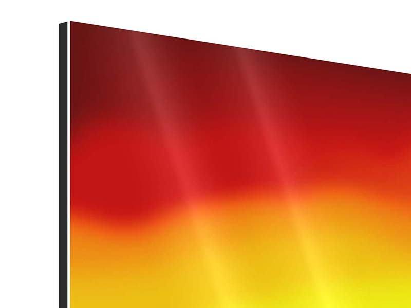 Panorama Aluminiumbild 3-teilig Faszination Afrika