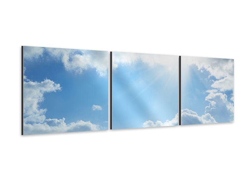 Panorama Aluminiumbild 3-teilig Himmelshoffnung