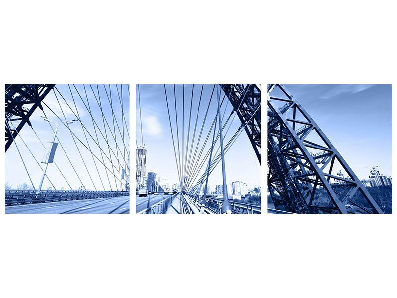 Panorama Aluminiumbild 3-teilig Schiwopisny-Brücke