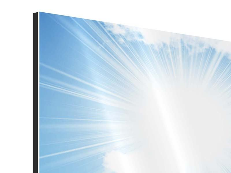 Panorama Aluminiumbild 3-teilig Am Himmel
