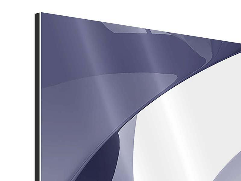 Panorama Aluminiumbild 3-teilig Abstrakte Schwingungen