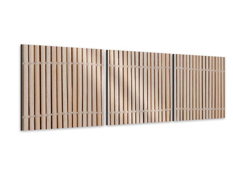 Panorama Aluminiumbild 3-teilig Lucky Bamboo