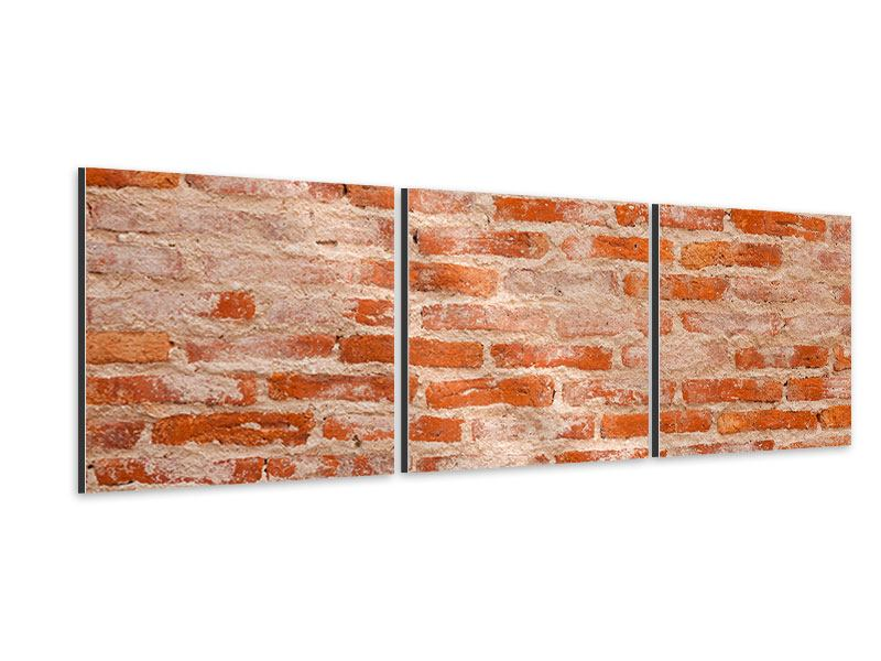 Panorama Aluminiumbild 3-teilig Mauerwerk