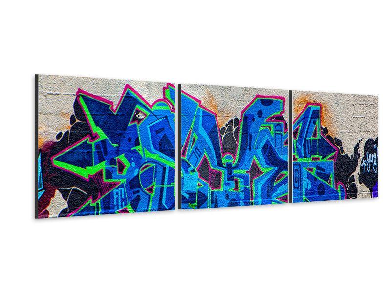 Panorama Aluminiumbild 3-teilig Graffiti NYC