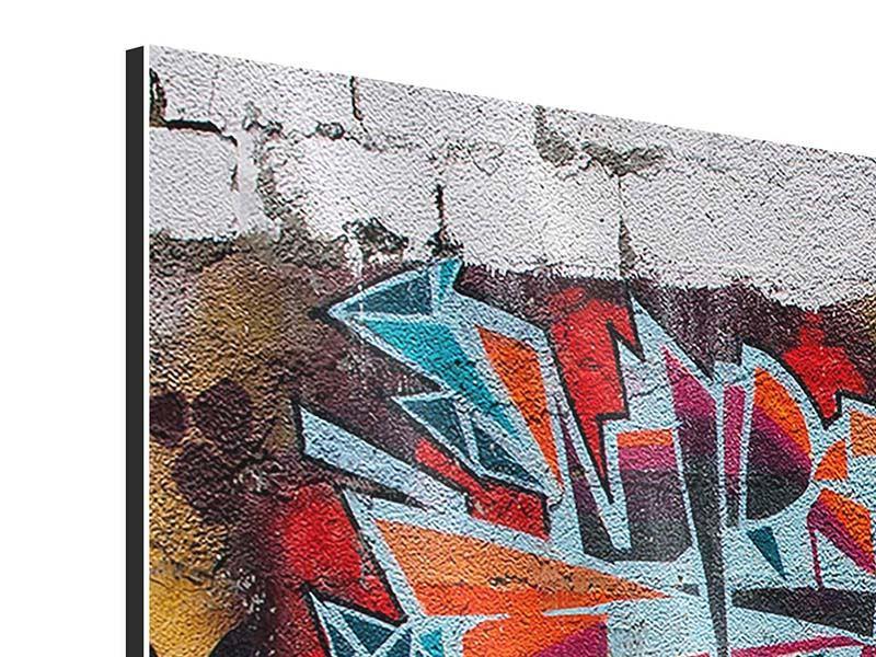 Panorama Aluminiumbild 3-teilig New York Graffiti
