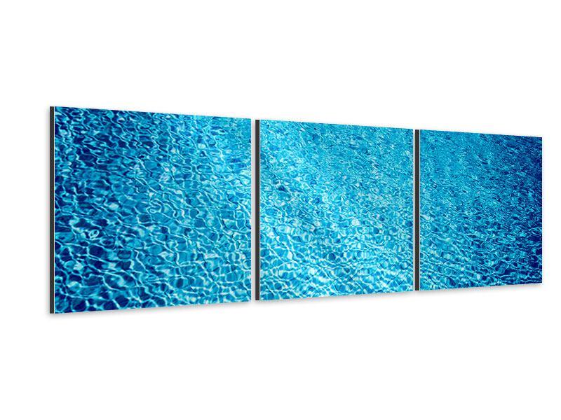 Panorama Aluminiumbild 3-teilig Tauchgang