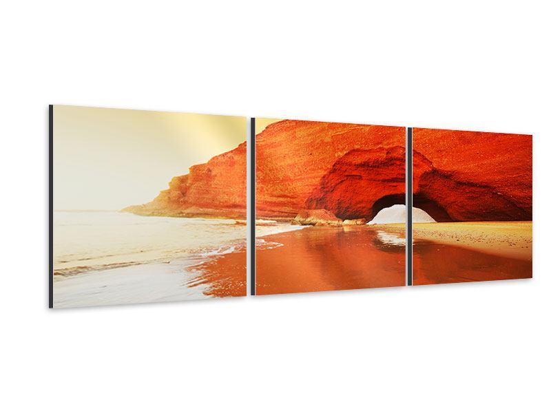 Panorama Aluminiumbild 3-teilig Wasserspiegelung