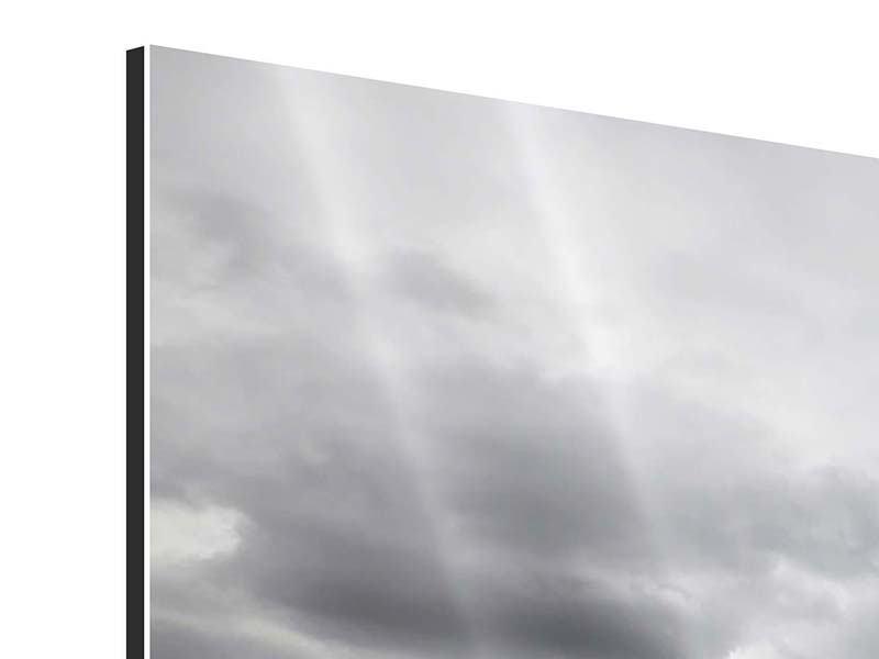 Panorama Aluminiumbild 3-teilig Vulkan