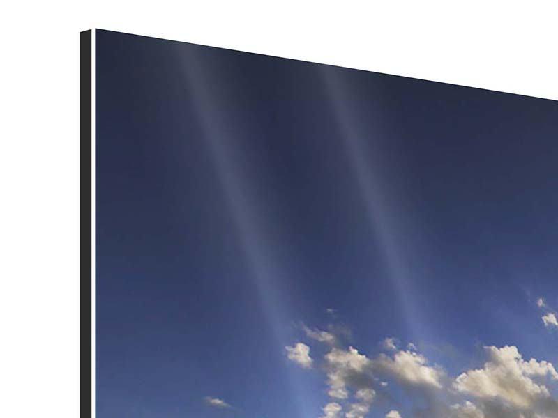 Panorama Aluminiumbild 3-teilig Das Meer im Sonnenaufgang