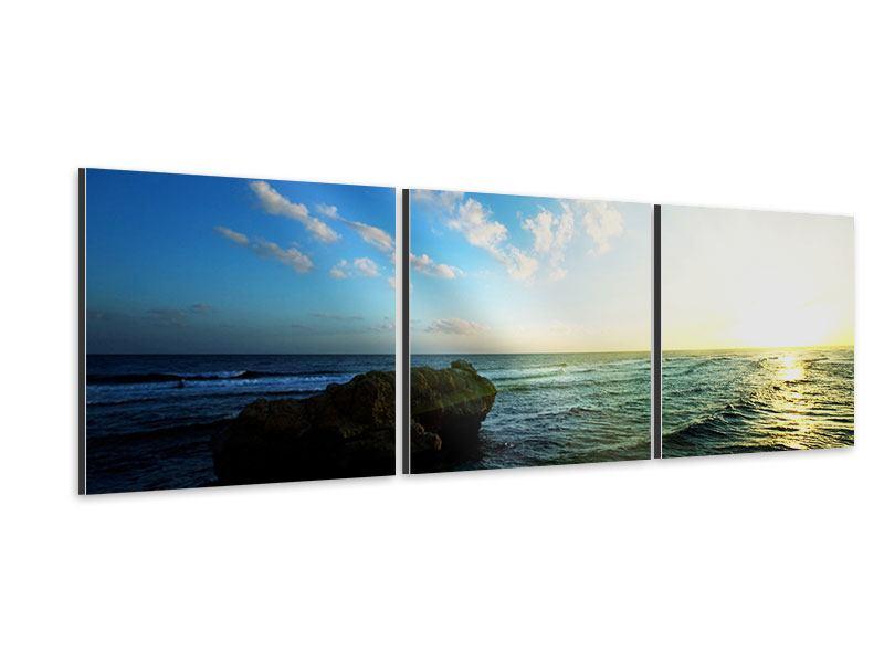Panorama Aluminiumbild 3-teilig Die See