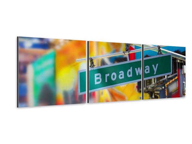 Panorama Aluminiumbild 3-teilig Broadway
