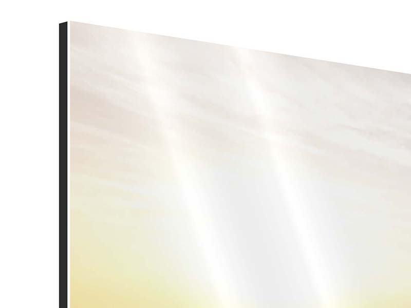 Panorama Aluminiumbild 3-teilig Das gestrandete Boot