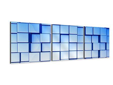 Panorama Aluminiumbild 3-teilig 3D-Symetrie