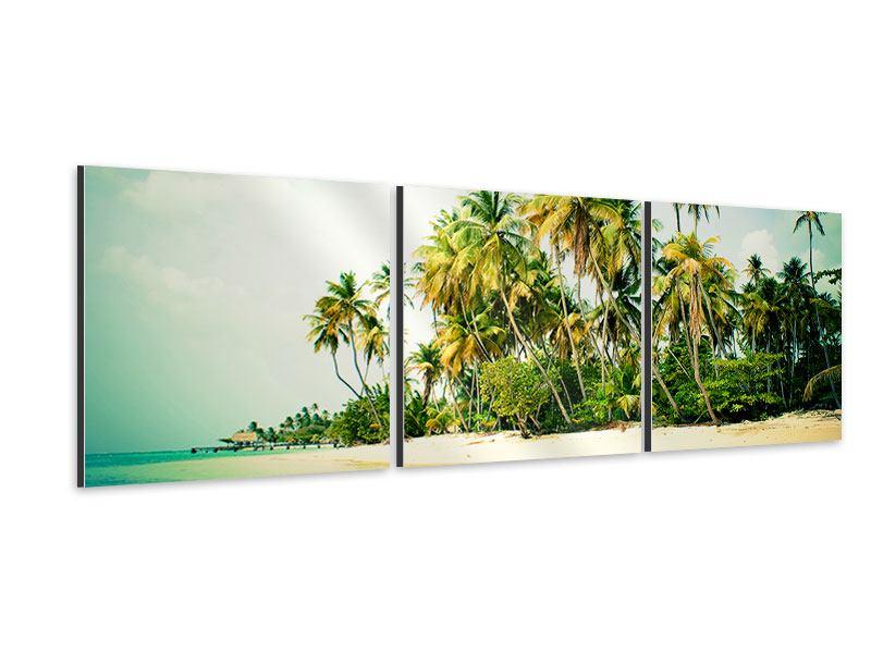 Panorama Aluminiumbild 3-teilig Tobago Cays