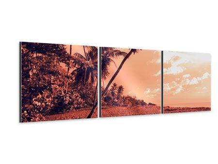 Panorama Aluminiumbild 3-teilig Tropenparadies