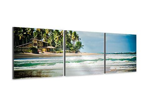 Panorama Aluminiumbild 3-teilig The Beach