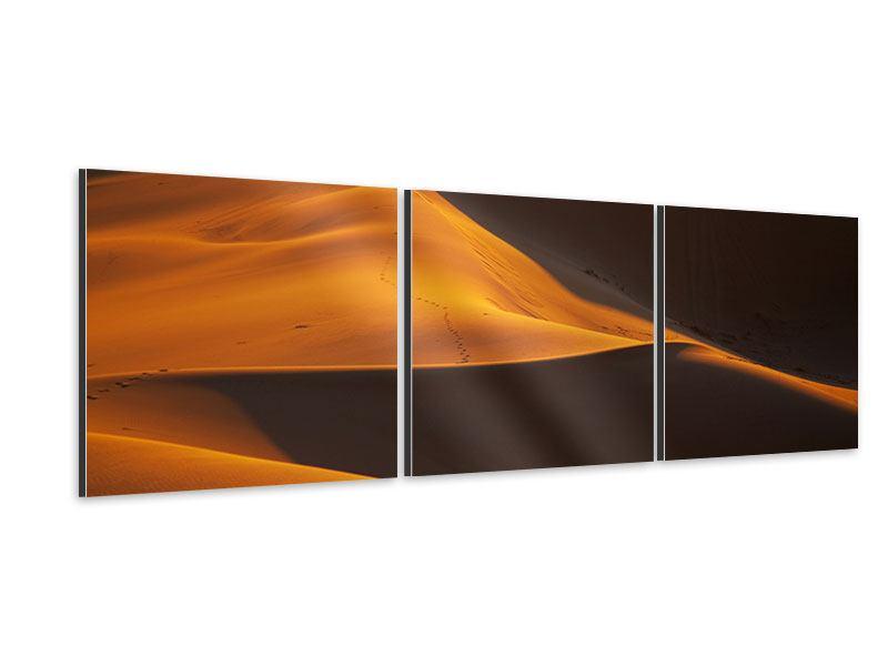 Panorama Aluminiumbild 3-teilig Wüstensand