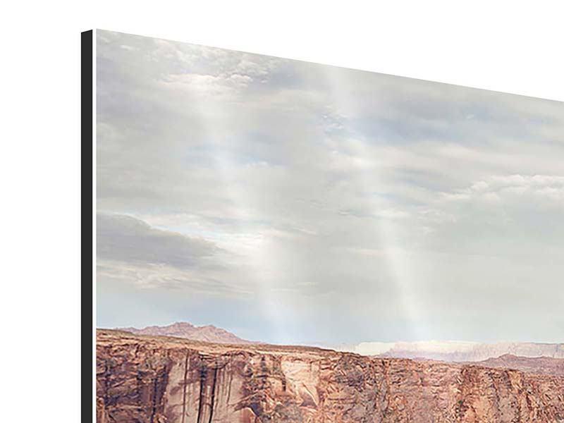 Panorama Aluminiumbild 3-teilig Horseshoe Bend