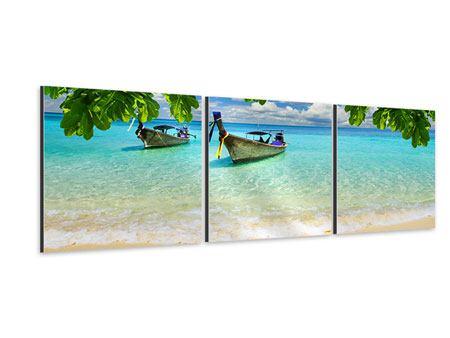Panorama Aluminiumbild 3-teilig Ein Blick auf das Meer