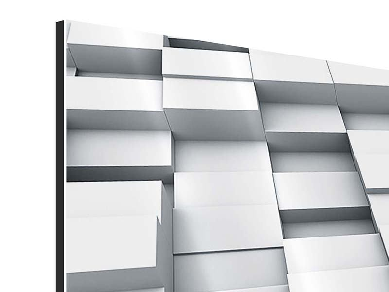 Panorama Aluminiumbild 3-teilig 3D-Kubus