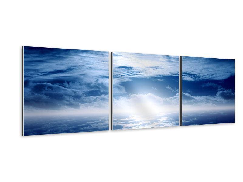 Panorama Aluminiumbild 3-teilig Mystischer Himmel