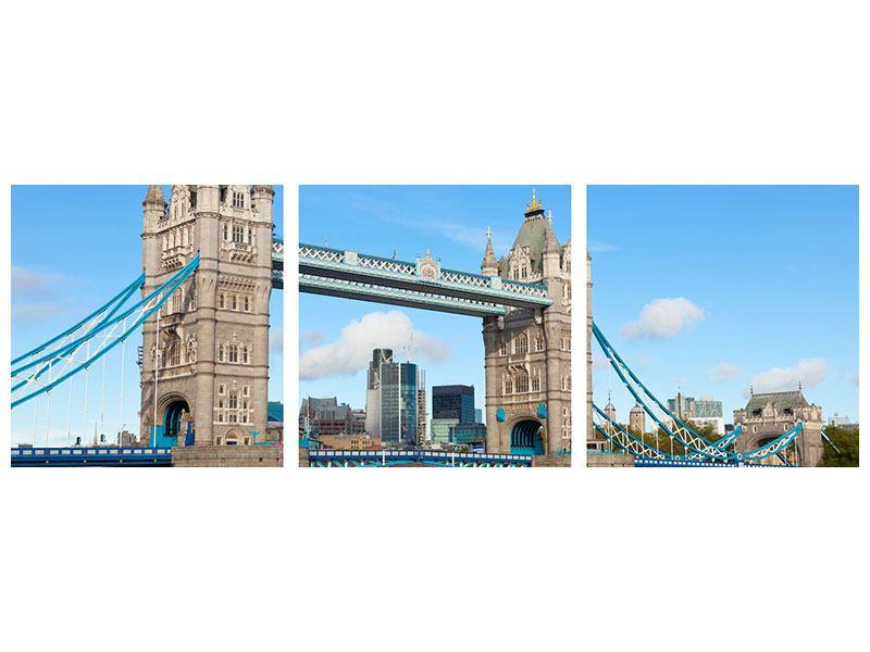 Panorama Aluminiumbild 3-teilig Die Tower Bridge