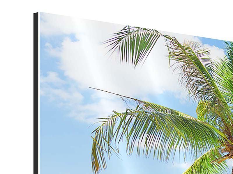 Panorama Aluminiumbild 3-teilig Die eigene Insel