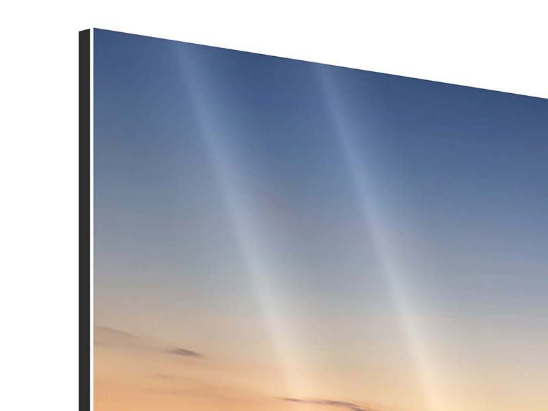 Panorama Aluminiumbild 3-teilig Der Steg