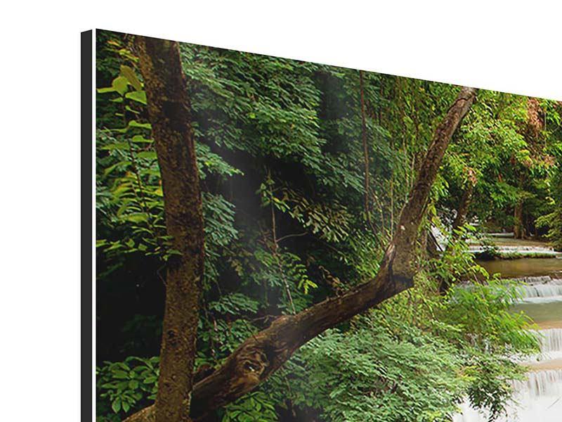 Panorama Aluminiumbild 3-teilig Im Baumhaus