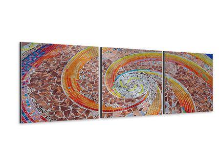 Panorama Aluminiumbild 3-teilig Mosaik