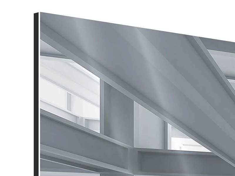 Panorama Aluminiumbild 3-teilig Räume
