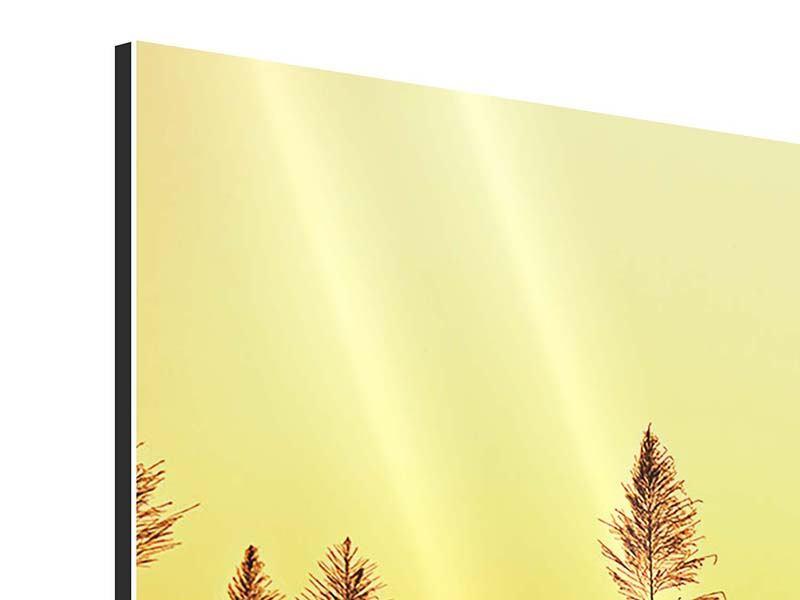 Panorama Aluminiumbild 3-teilig Die Blumen des Feldes