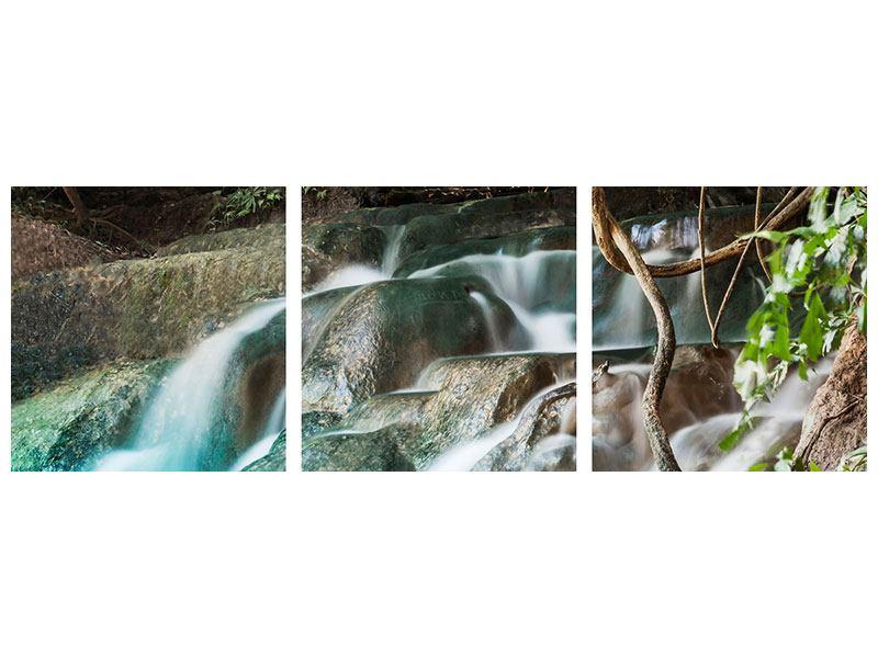 Panorama Aluminiumbild 3-teilig Am Fluss des Lebens