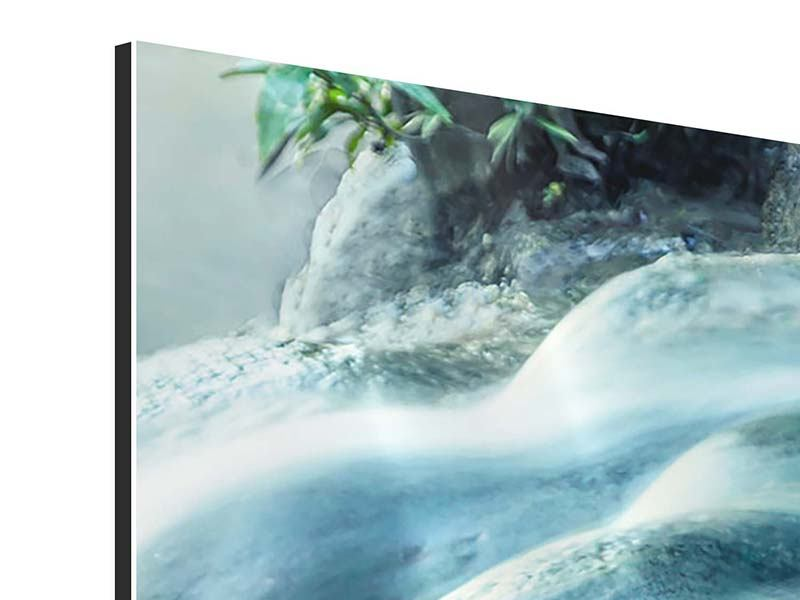 Panoramic 3 Piece Aluminium Print The Flowing Water