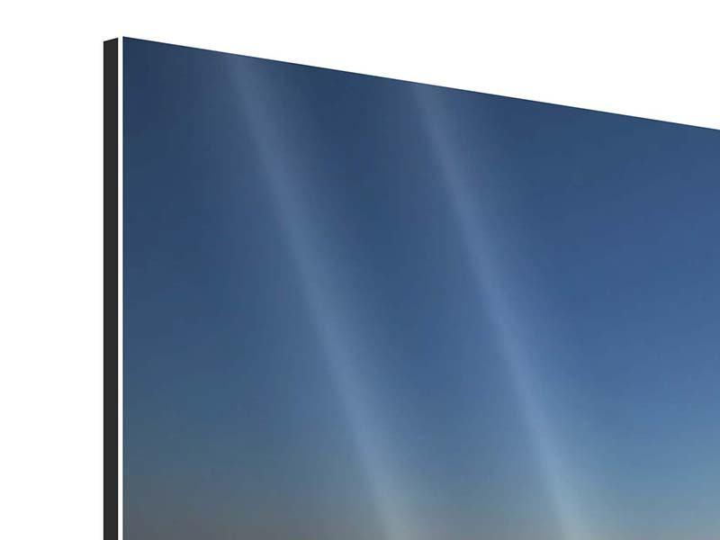 Panorama Aluminiumbild 3-teilig Privatstrand