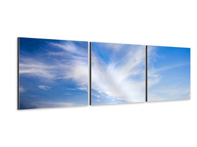 Panorama Aluminiumbild 3-teilig Schleierwolken