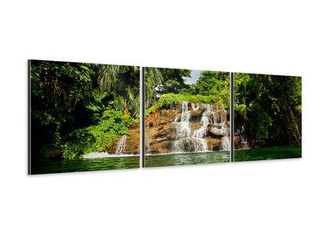 Panorama Aluminiumbild 3-teilig Lagune