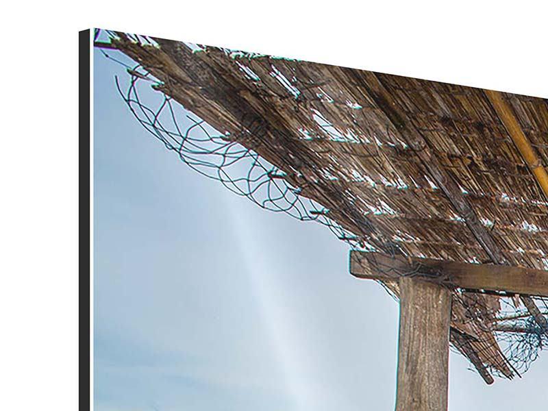 Panorama Aluminiumbild 3-teilig Hängematte