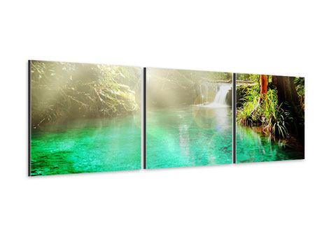 Panorama Aluminiumbild 3-teilig Die grüne Lagune